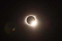 Den sammanlagda sol- förmörkelsen 2017, verkar från Helen Georgia royaltyfria bilder