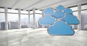 Den sammansatta bilden av den digitalt frambragda bilden av molnet formar 3d Fotografering för Bildbyråer
