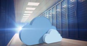 Den sammansatta bilden av molnet formar mot vit bakgrund 3d Royaltyfri Bild