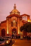 Den San Blas domkyrkan i Cuenca, Ecuador Arkivbild