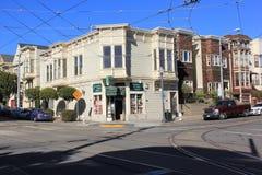 Den San Francisco gatan tränga någon arkivfoto