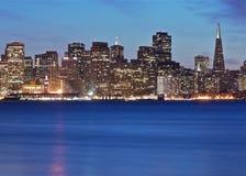 Den San Francisco staden tänder Arkivbilder