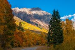 Den San Joaquin Ridge nedgången färgar Colorado Autumn Landscape Royaltyfri Foto