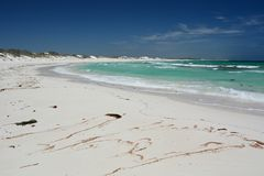 Den sandiga stranden på Lancelin Grevskap av Gingin Västra Australien australasian Arkivbild