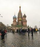Den Sanka domkyrkan för basilika` s lokaliseras i röd fyrkant moscow russia Arkivfoto