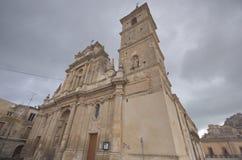 Agira Sicily, Sanktt Anthony av Paduas kyrka Royaltyfria Bilder