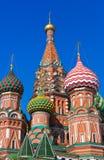 Den Sanktt basilikadomkyrkan på rött kvadrerar, Moscow Arkivbilder