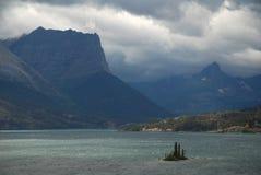 Sanktt Mary Lake, Montana, USA Arkivbild