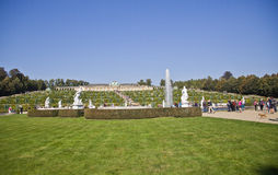 Den Sanssouci slotten och parkerar - Potsdam (Tyskland) Arkivbilder