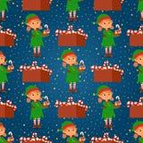 Den Santa Claus älvan lurar dräkten för tecken för älvor för barn för illustrationen för vektorn för tecknad filmälvahjälpredor d Stock Illustrationer