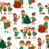 Den Santa Claus älvan lurar dräkten för tecken för älvor för barn för illustrationen för vektorn för tecknad filmälvahjälpredor d Vektor Illustrationer