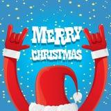 Den Santa Claus handen vaggar illustrationen för n-rullvektorn Arkivfoto