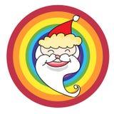 Den Santa Claus julhanden skissar Arkivfoto