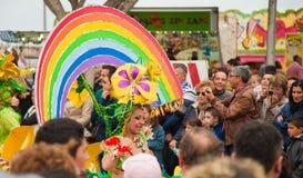 Den SANTA CRUZ SPANIEN karnevalet ståtar 2013 Arkivfoto
