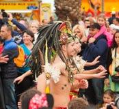 Den SANTA CRUZ SPANIEN karnevalet ståtar 2013 Royaltyfri Bild