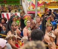 Den SANTA CRUZ SPANIEN karnevalet ståtar 2013 Fotografering för Bildbyråer