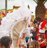 Den SANTA CRUZ SPANIEN karnevalet ståtar 2013 Arkivbild