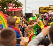 Den SANTA CRUZ SPANIEN karnevalet ståtar Royaltyfri Fotografi