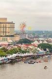 Den Sarawak Kuching vattenfestivalen, många ballons är utsläppt till himlen Royaltyfria Foton
