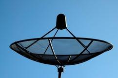 Den satellit- maträtten Arkivfoto