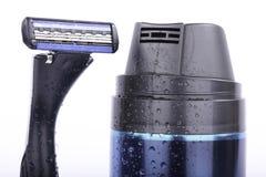 Den Satz rasieren getrennt auf Weiß lizenzfreies stockbild