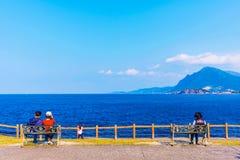 Den sceniska sikten av kust- parkerar Fotografering för Bildbyråer