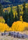 Den sceniska skönheten av Colorado Rocky Mountains - det Kebler passerandet Arkivbilder