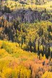 Den sceniska skönheten av Colorado Rocky Mountains i höst Royaltyfri Foto