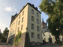 Den Schwanenburg slotten i den Kleve Tyskland fotografering för bildbyråer