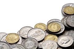 Den schweiziska francen myntar med kopierar utrymme Royaltyfri Foto