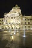 Den schweiziska parlamentet Bundeshaus Arkivfoton
