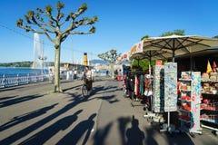 Den schweiziska souvenir shoppar Arkivfoto
