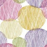 Den Seamless abstrakt begrepp cirklar mönstrar Arkivbilder