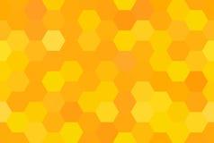 Den seamless abstrakt honungskakan mönstrar Arkivfoto