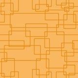 Den Seamless apelsinen mönstrar geometrisk abstrakt bakgrund Linjär struktur från rektanglar med rundade hörn vektor stock illustrationer