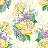 Den seamless blomman mönstrar Arkivfoton