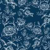 Den seamless blomman mönstrar Royaltyfria Bilder