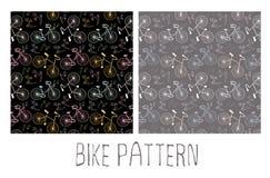Den seamless cykeln mönstrar vektor illustrationer
