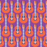 Den Seamless gitarren mönstrar Royaltyfri Foto