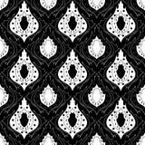 Den Seamless monokromen mönstrar 14 Royaltyfri Fotografi
