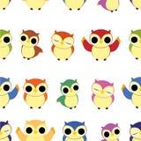Den Seamless owlen mönstrar Royaltyfri Bild