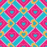Den seamless patchworken mönstrar Royaltyfria Foton