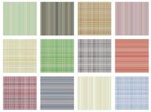 den seamless seten textures vektorn Rutiga för pastell olika fodrade bakgrunder i pastellfärgade färger, textur för tygprovkartap Arkivfoto