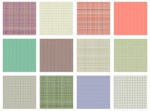 den seamless seten textures vektorn Rutiga för pastell olika fodrade bakgrunder i pastellfärgade färger, textur för tygprovkartap royaltyfri illustrationer