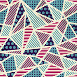 Den seamless sicksacken mönstrar med grunge verkställer vektor illustrationer
