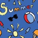 Den Seamless sommaren mönstrar Arkivbilder