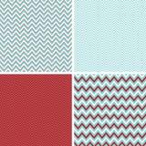 Den Seamless sparren mönstrar Aquablått, det röda mörkret - och vit Royaltyfri Bild
