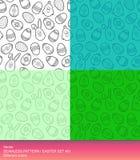 Seamless mönstra | Påskuppsättning #01 Arkivbild
