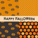 Den seamless uppsättningen av halloween mönstrar Royaltyfri Bild