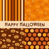 Den seamless uppsättningen av halloween mönstrar Royaltyfria Bilder